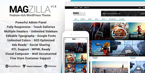 ThemeForest - MagZilla v1.6 - For Newspapers, Magazines and Blogs - 12972965