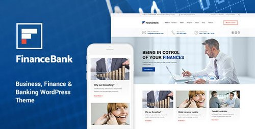 ThemeForest - FinanceBank v1.7 - Business, Finance & Banking WordPress Theme - 16638250