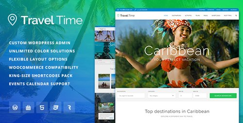 ThemeForest - Travel Time v1.1.3 - Tour, Hotel and Vacation Travel WordPress Theme - 16896149