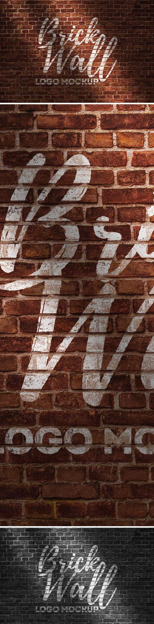 PSD Mock-Up - Brick Wall Logo
