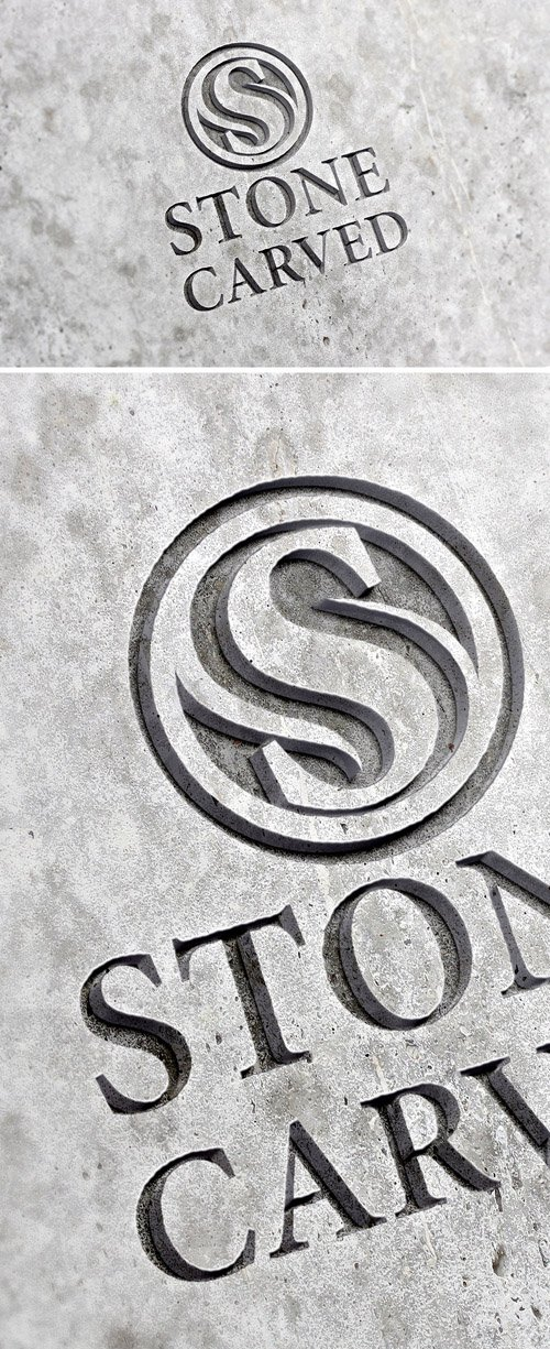PSD Mock-Up - Carved Stone Logo