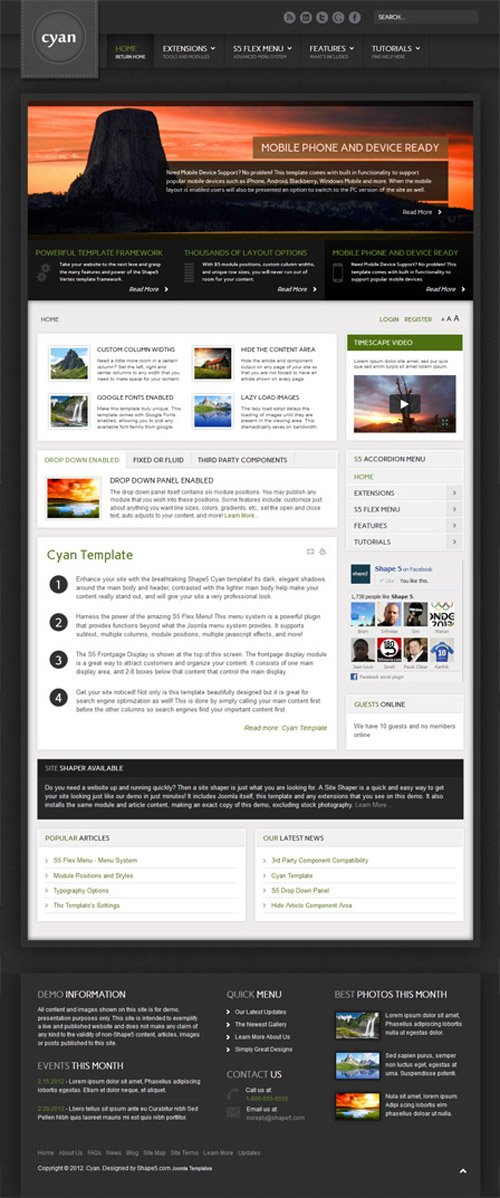 Shape5 - Cyan v1.0 - WordPress Theme