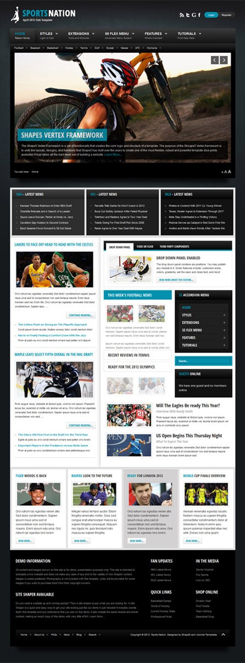 Shape5 - Sports Nation v1.0 - WordPress Theme