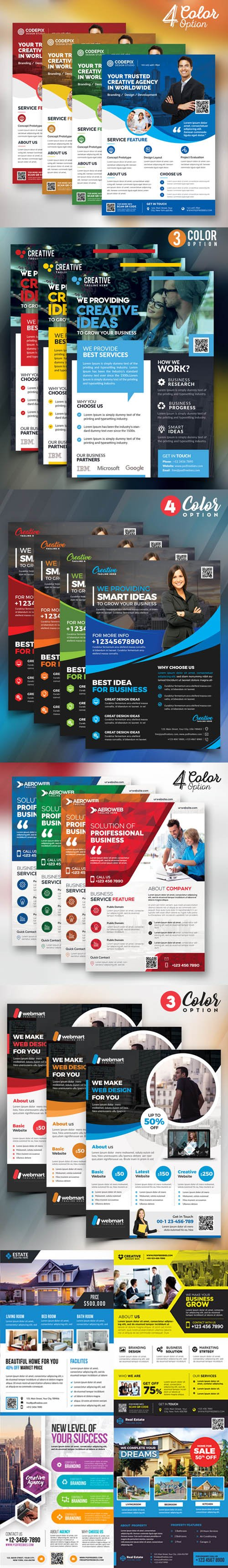 Multipurpose Business Flyer - 22 PSD Templates