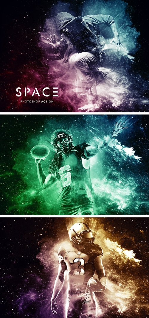 Space Action for Photoshop