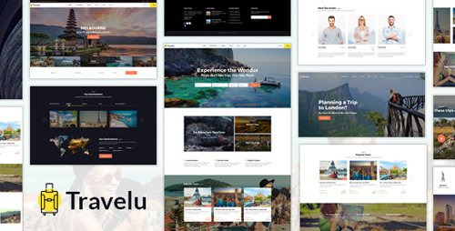 ThemeForest - Travelu v1.0 - Travel, Tour Booking Template - 20264340