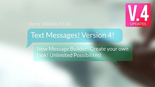 Text Messages v.4 - Project for After Effects (Videohive)