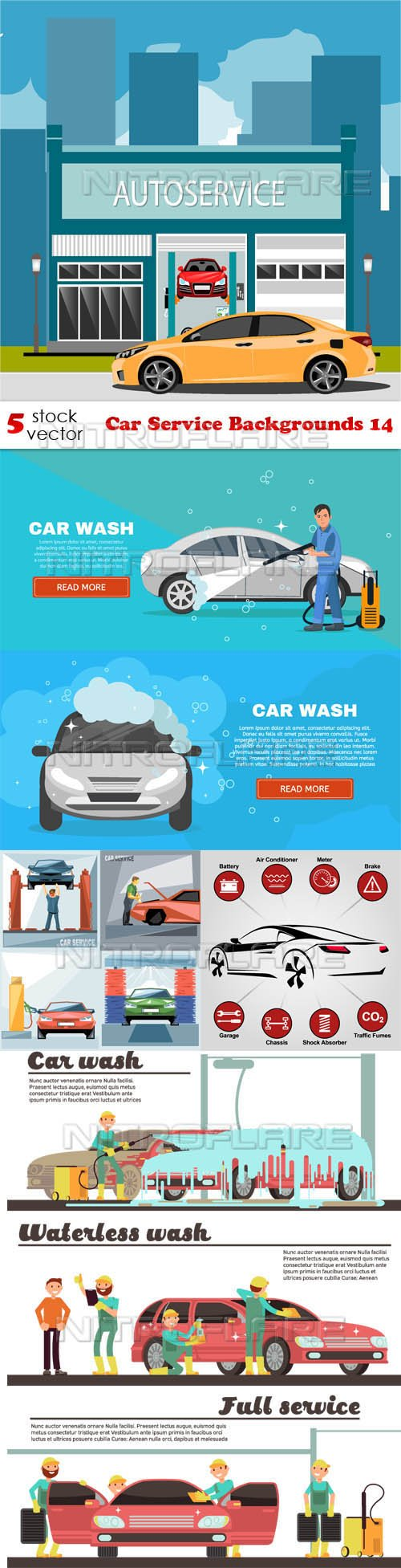 Vectors - Car Service Backgrounds 14
