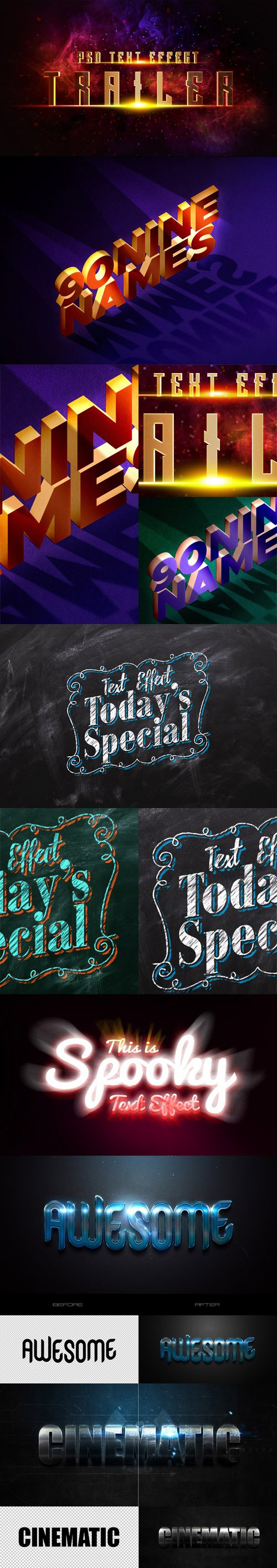 6 Awesome Text Effects & Styles for Photoshop