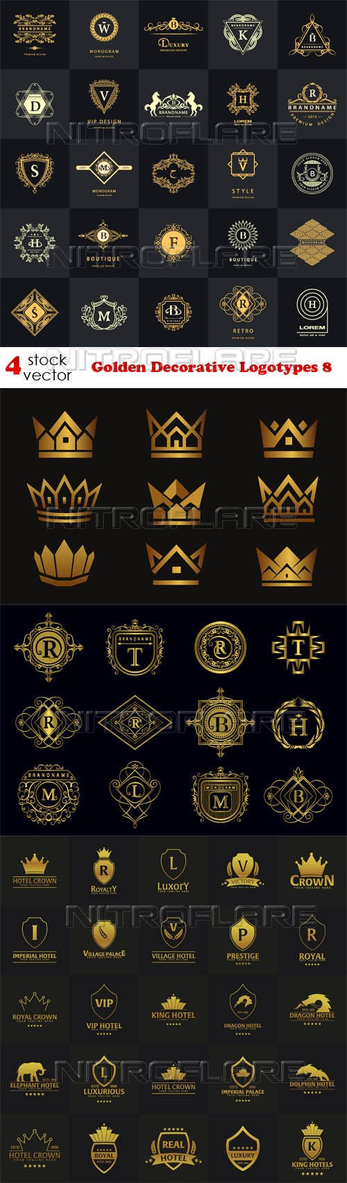 Vectors - Golden Decorative Logotypes 8