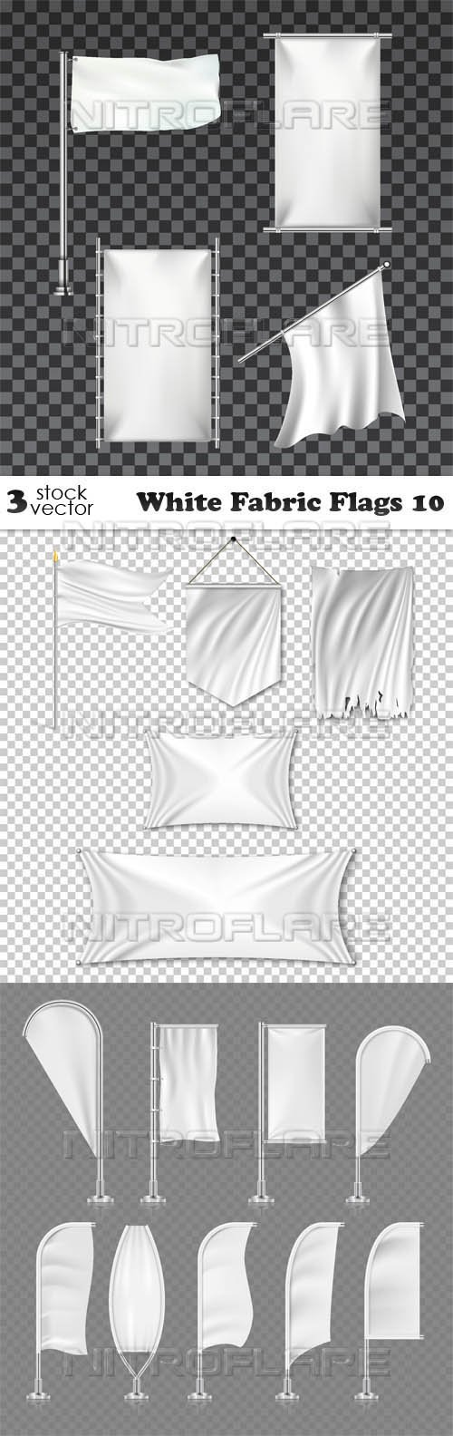 Vectors - White Fabric Flags 10