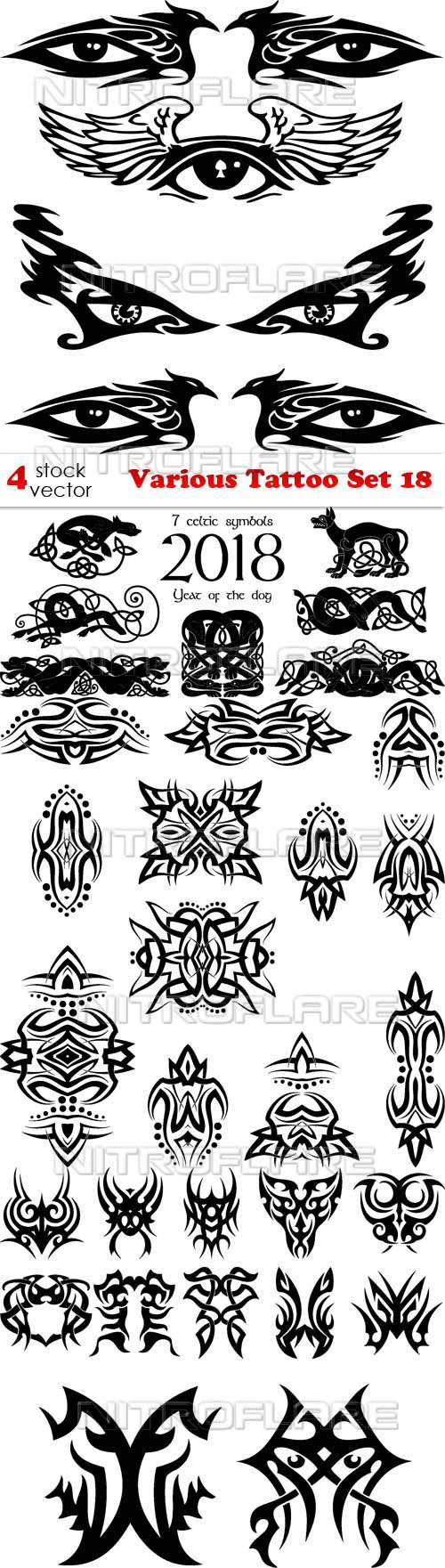 Vectors - Various Tattoo Set 18