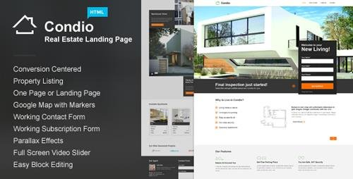 ThemeForest - Condio v1.3 - Real Estate Landing Page - 7650788