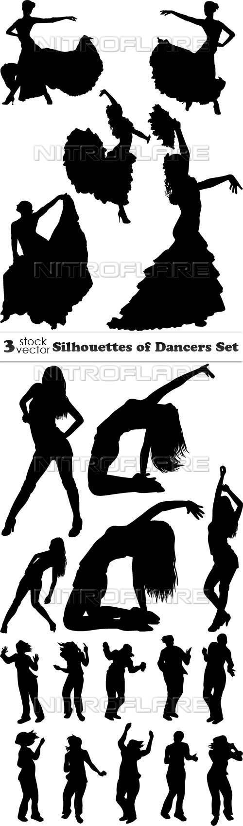 Vectors - Silhouettes of Dancers Set
