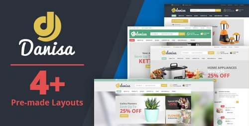ThemeForest - Danisa v1.0 - Appliances, Gifts, Flower, Kitchenware Magento Theme - 21239419