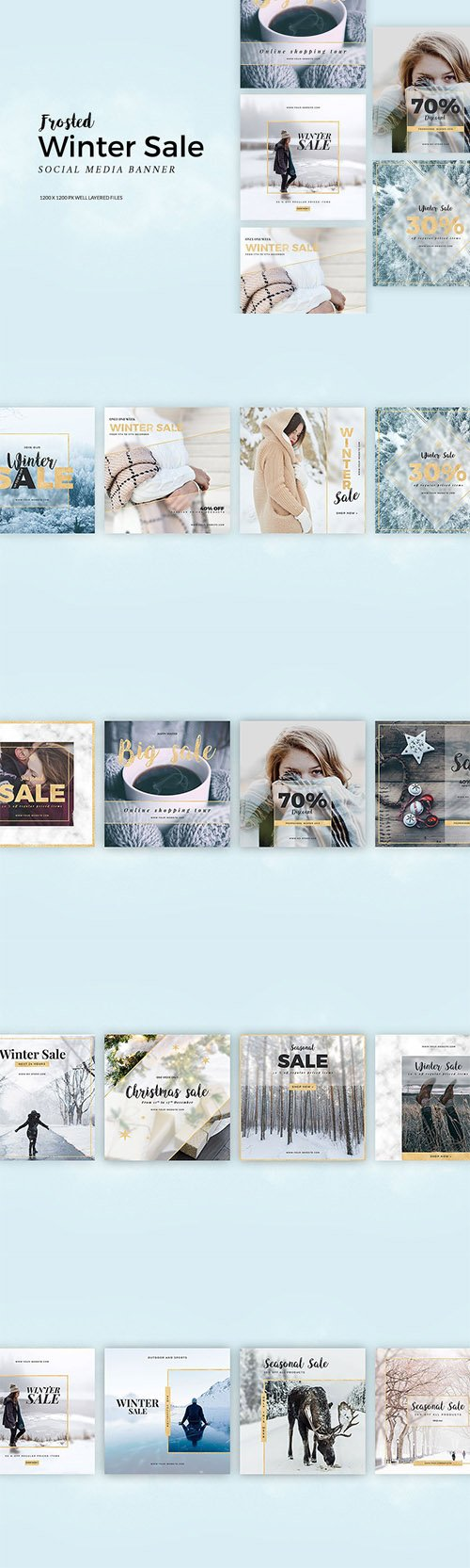 Frosted Winter Sale Banner - CM 2142192