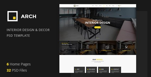 ThemeForest - Arch Decor v1.0 - Interior Design, Architecture and  Building Business PSD Template - 21154694