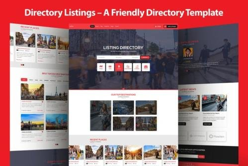 Directory Listings - A Friendly Directory Template