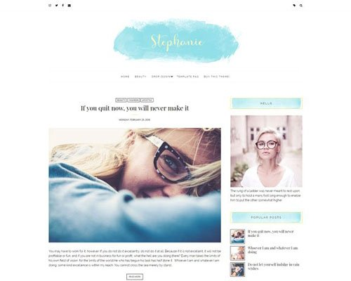 Feminine Blogger Theme - Stephanie - CM 2121914