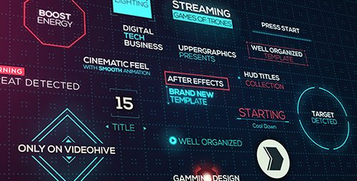 Cinematic HUD Titles - Project for After Effects (Videohive)