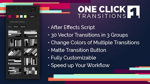 One Click Transitions Vol.1 - After Effects Scripts (Videohive)