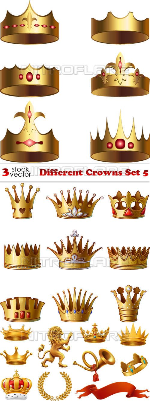 Vectors - Different Crowns Set 5