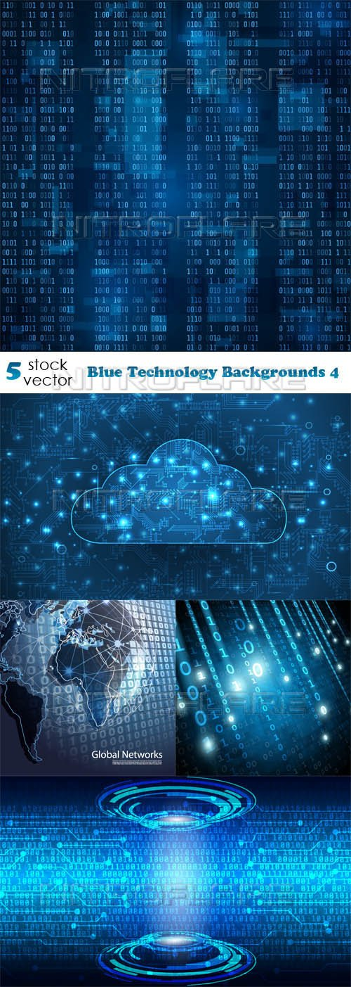 Vectors - Blue Technology Backgrounds 4