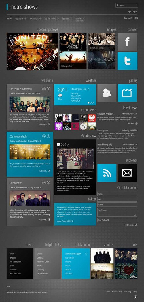 Shape5 - Metro Shows v2.0 - WordPress Theme