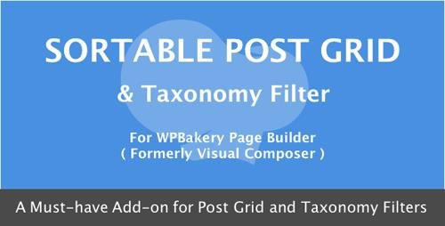 CodeCanyon - Visual Composer - Sortable Grid & Taxonomy filter v3.0 - 7338639