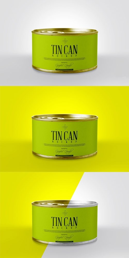 PSD Mock-Up - Tin Can