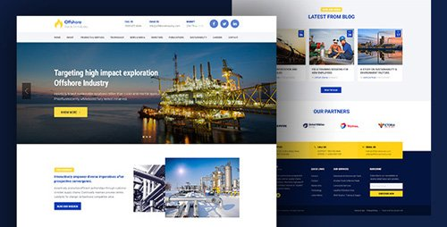 ThemeForest - Industrial Business Responsive WP theme - Offshore v1.0.7 - 16897186