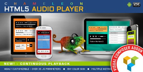 CodeCanyon - Visual Composer Addon - Chameleon Audio Player v1.2.7.1 - 13116668