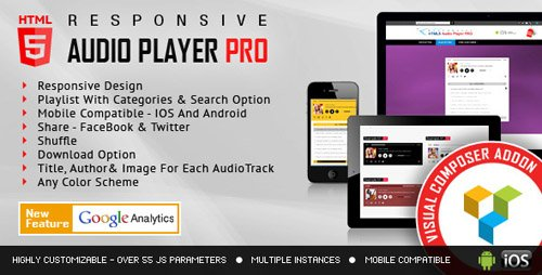 CodeCanyon - Visual Composer Addon - HTML5 Audio Player PRO v1.8 - 12000347