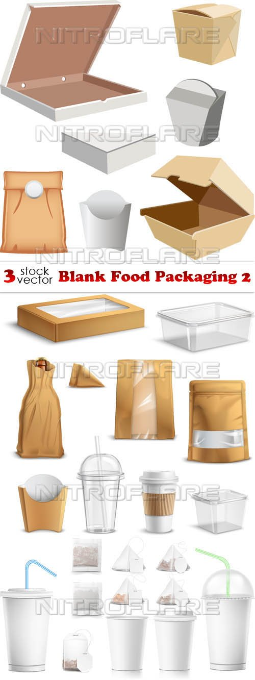 Vectors - Blank Food Packaging 2