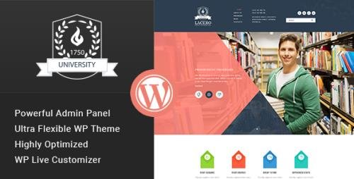 ThemeForest - Lacero v1.1 - Education & University WordPress Theme - 15671099