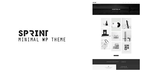 ThemeForest - Sprint v1.4 - Minimal WordPress Portfolio - 14815807