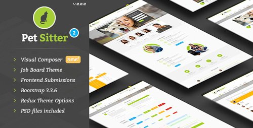 ThemeForest - Pet Sitter v2.2.2 - Job Board Responsive WordPress Theme - 9206865