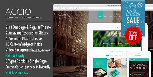 ThemeForest - Accio v1.2.3 - Responsive Onepage Parallax Agency WordPress Theme - 7059765