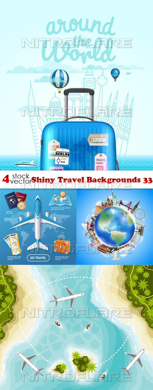 Vectors - Shiny Travel Backgrounds 33