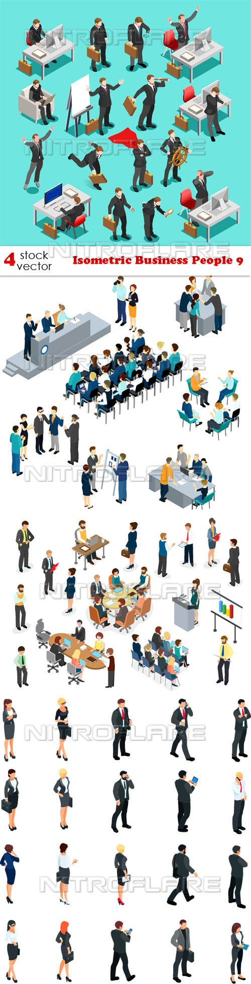 Vectors - Isometric Business People 9