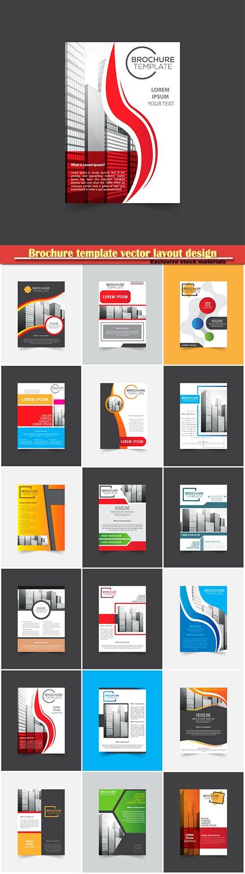 Brochure template vector layout design, corporate business annual report, magazine, flyer mockup # 111