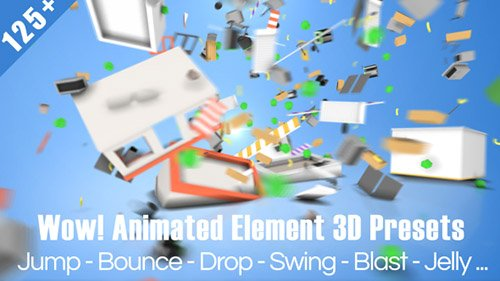 Wow! Dynamic Element 3D Presets - After Effects Presets (Videohive)