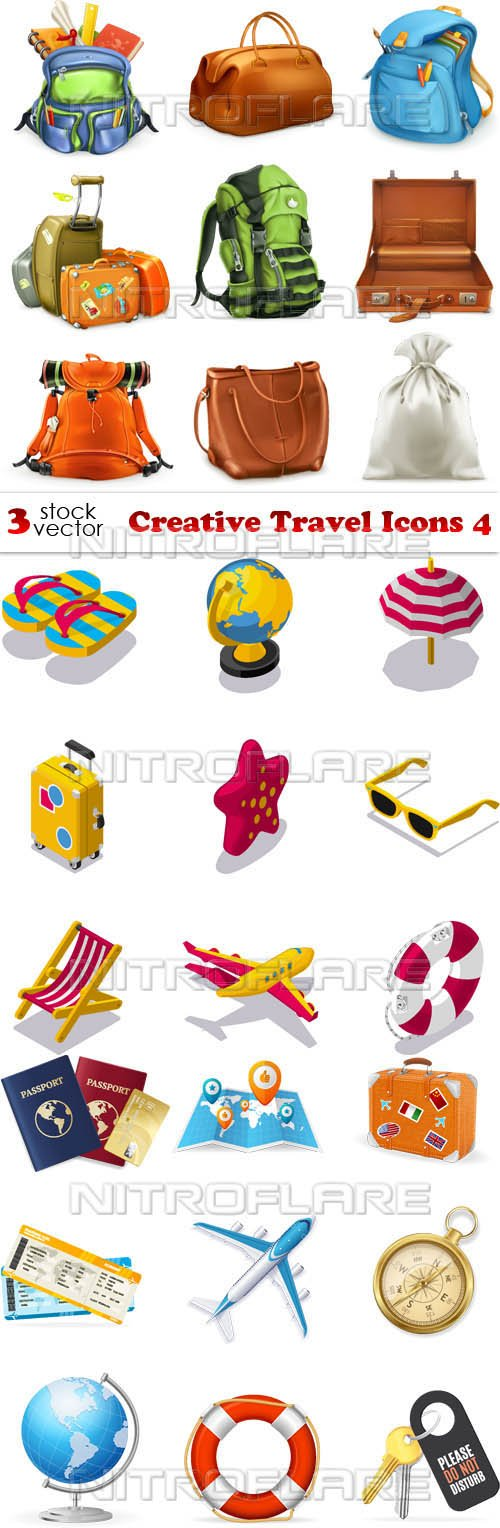 Vectors - Creative Travel Icons 4