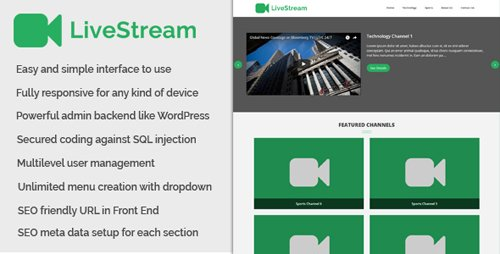 CodeCanyon - LiveStream v1.0 - Live Channel and Live Stream Website - 20828481