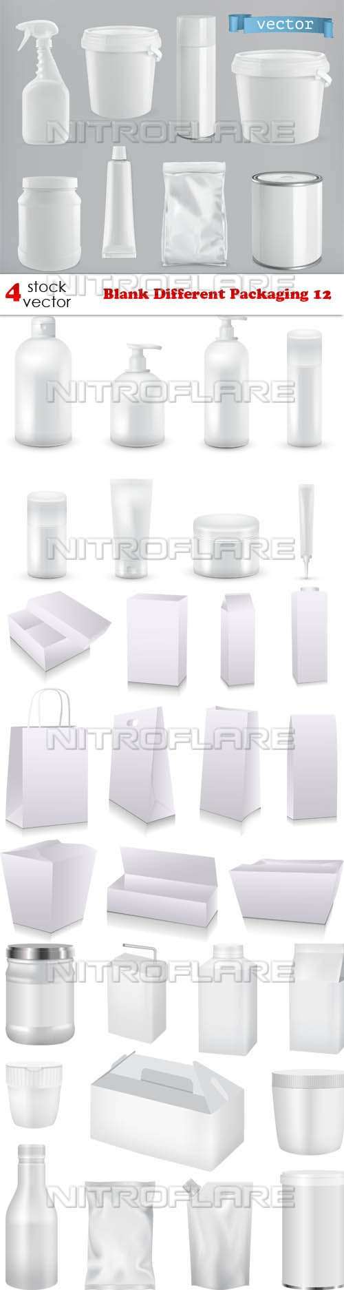 Vectors - Blank Different Packaging 12