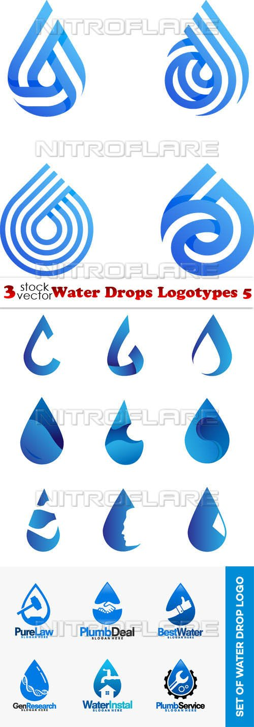 Vectors - Water Drops Logotypes 5