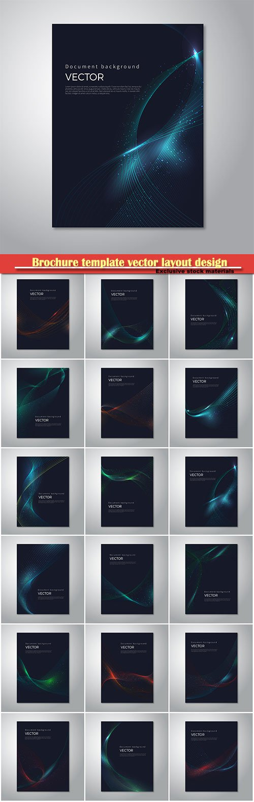 Brochure template vector layout design, abstract backgrounds