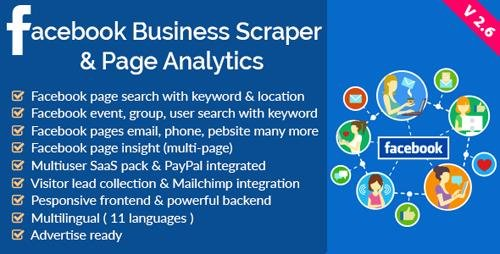 CodeCanyon - Facebook Business Scraper & Page Analytics v2.6 - 16608158