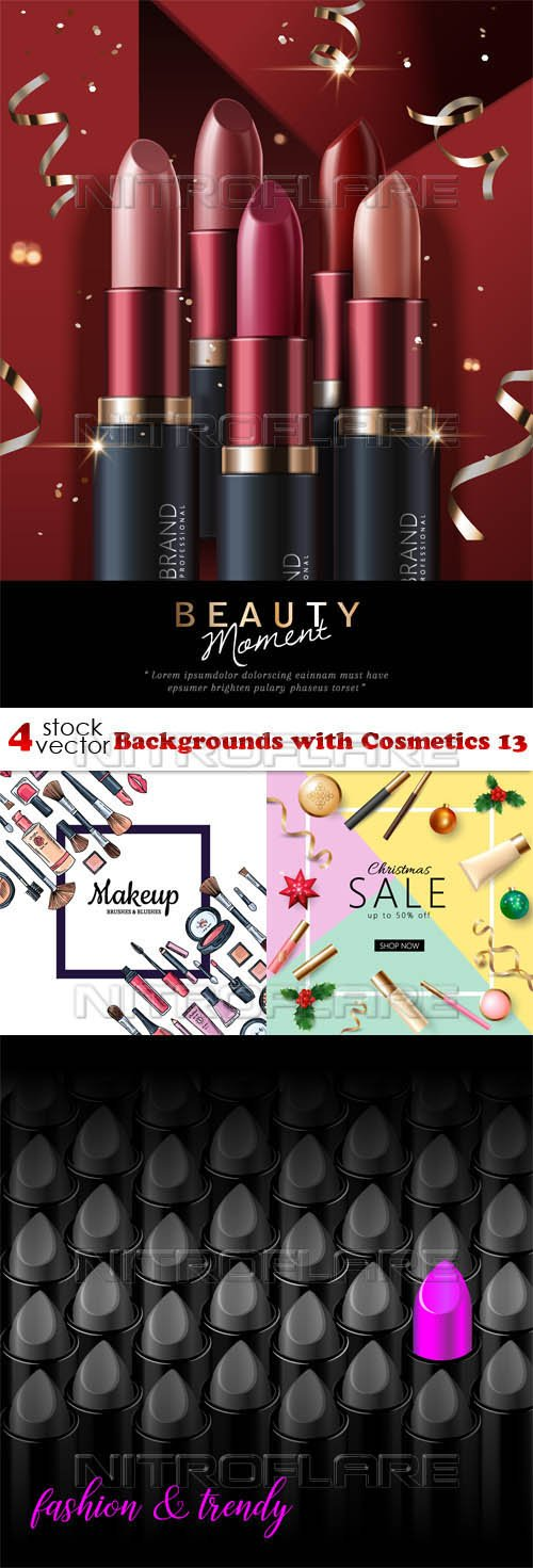Vectors - Backgrounds with Cosmetics 13