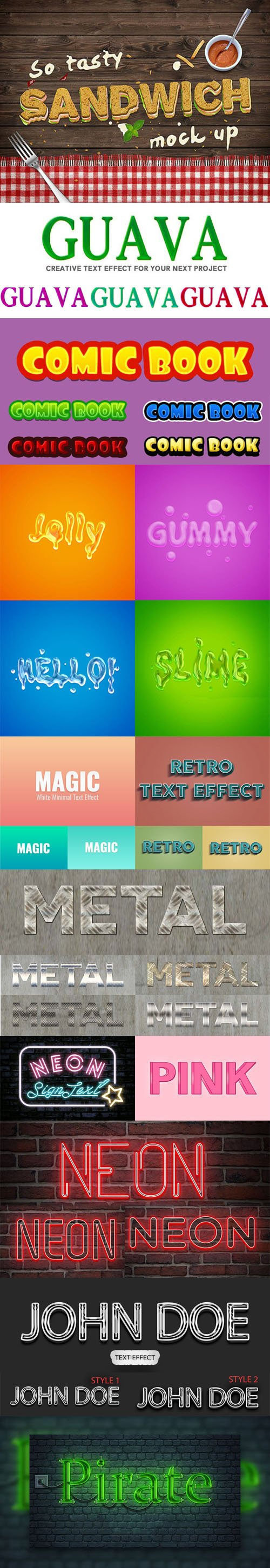 12 Exclusive Text Effects for Photoshop [ASL/PSD]